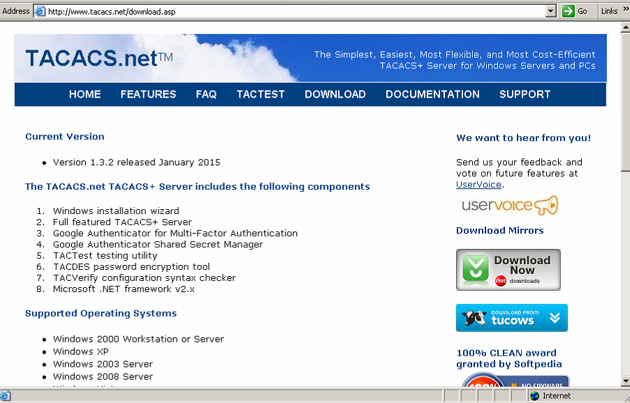 TACACS Server Implementation
