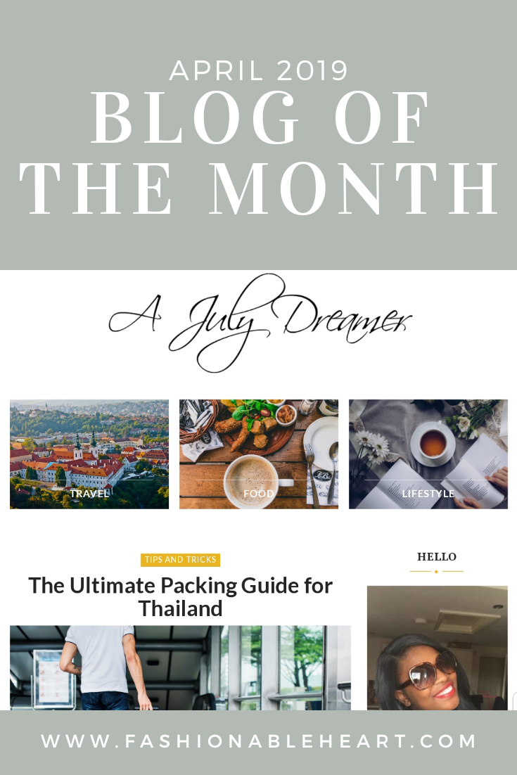 bblogger, bbloggers, travel blog, lifestyle blogger, a july dreamer, blog of the month, blogger of the month, featured blog, beauty blog
