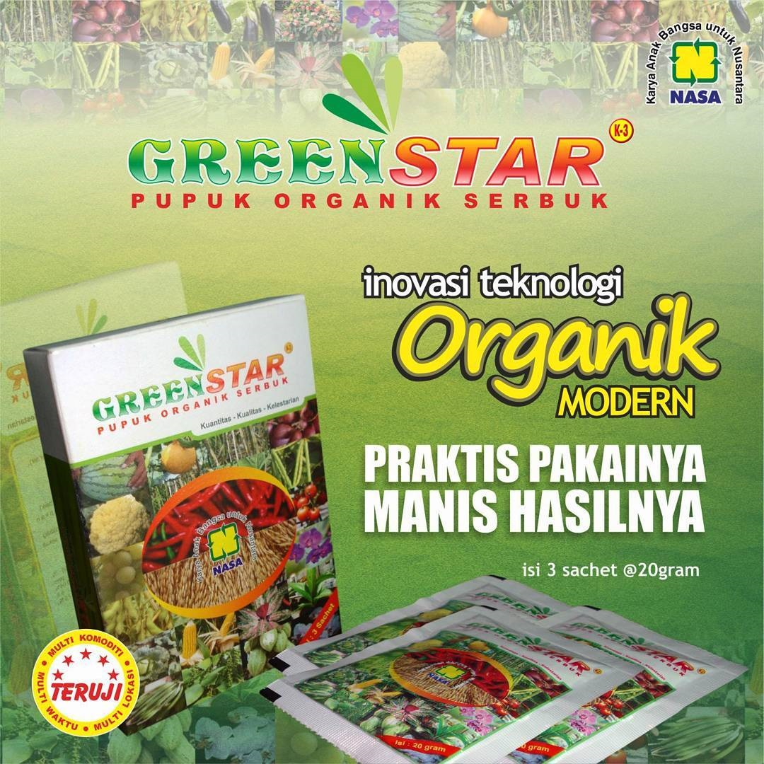 Pupuk Organik Serbuk Greenstar - Biangnya Pupuk Organik Semprot