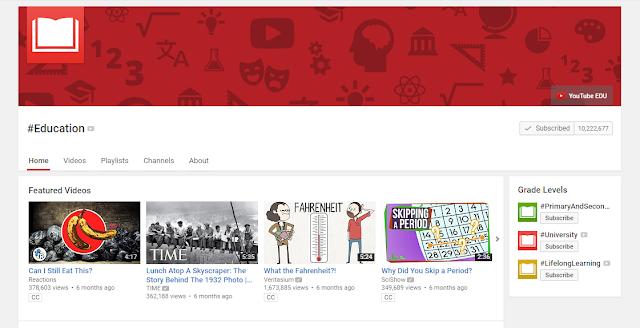 قنوات وبرامج تعليمية ممتعة على اليوتيوب