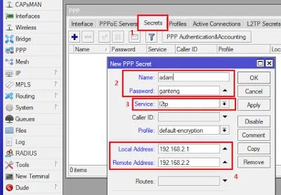 Membuat User L2TP Client Mikrotik