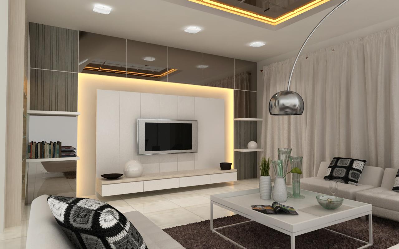 Home Interior Design Ideas Hall: .: 3D Drawing Plan (Interior Design