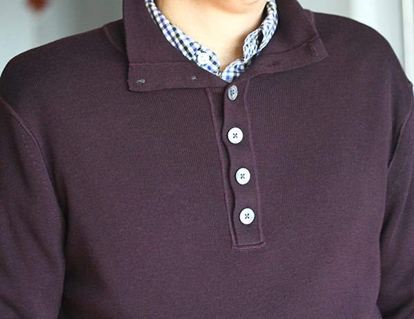 Sweater over shirt, Mens style