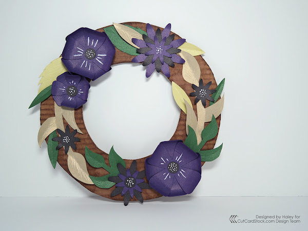 Spring Floral Paper Wreath
