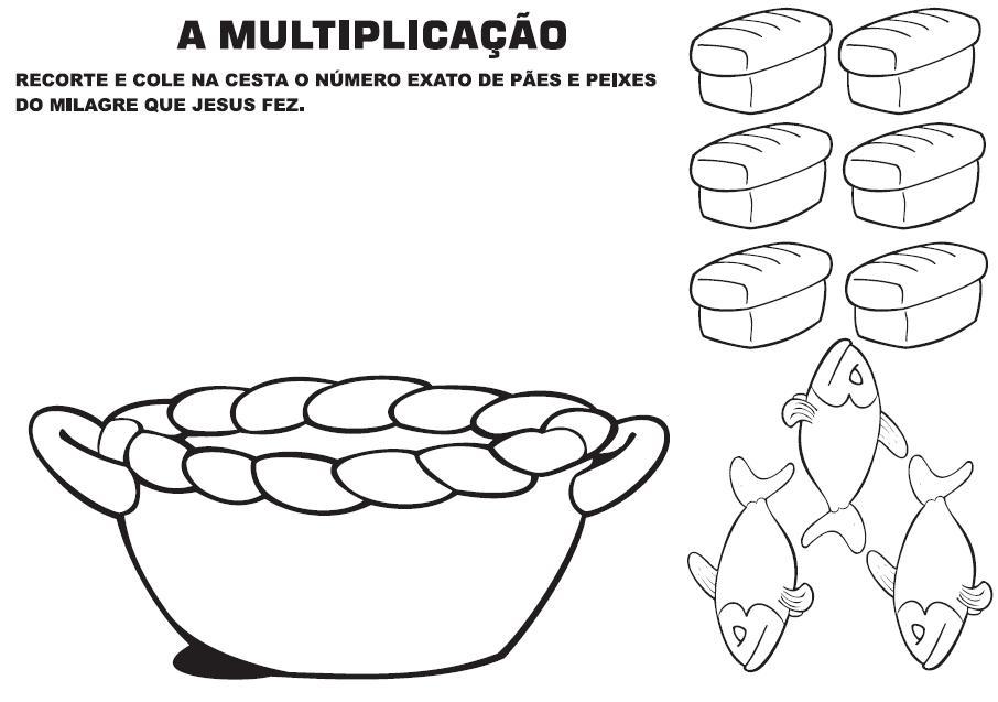 Jardim da Fé ♥: ATIVIDADES-MULTIPLICAÇÃO DOS PÃES, PARTE II