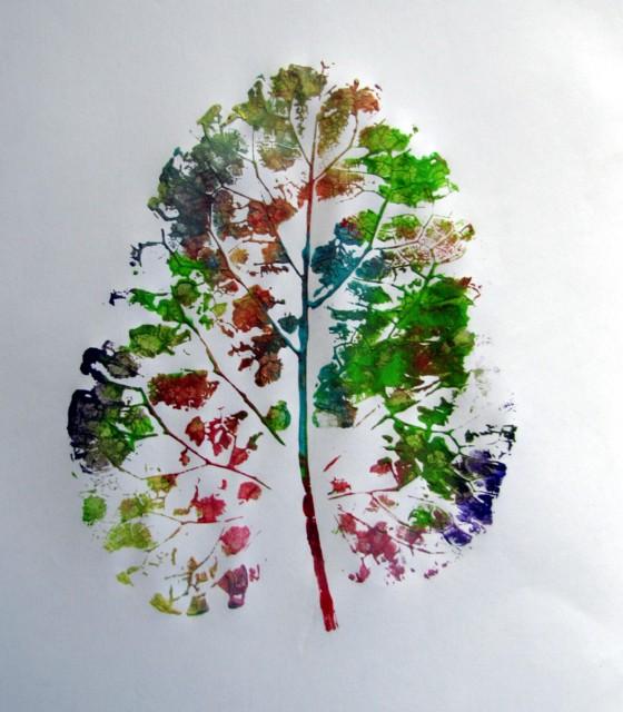 Painted Leaf Prints | Munchkins and Mayhem