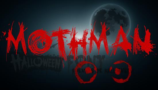 MOTHMAN -Halloween font Hombre polilla