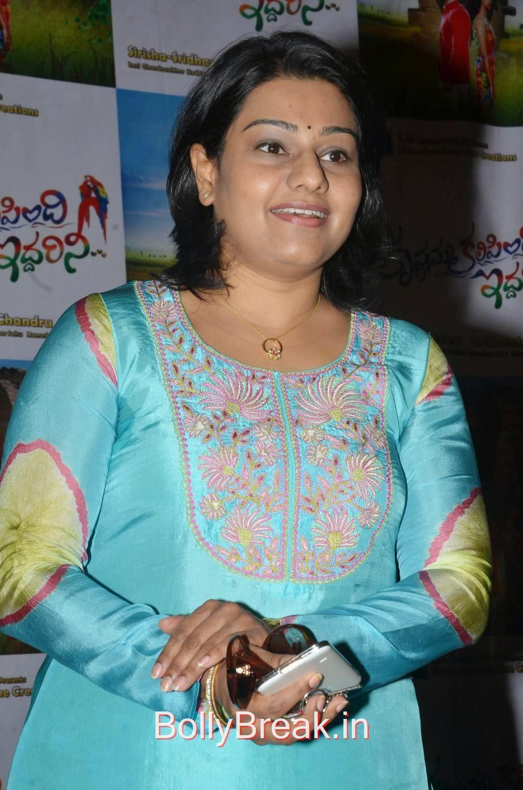 High Quality Lagadapati Sirisha Sridhar Pics, Hot HD Images Of Lagadapati Sirisha Sridhar  In Blue Dress At Krishnamma Kalipindi Iddarini Press Meet