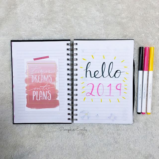 2019 Bullet Journal Setup