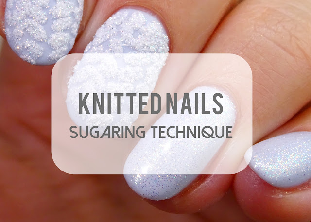 Knitted nails and sugaring technique