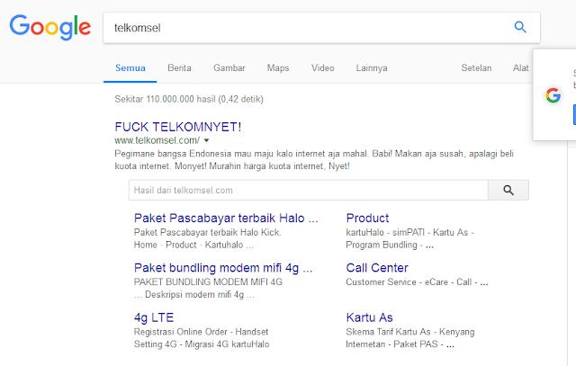 hasil pencarian telkomsel masih belum membaik