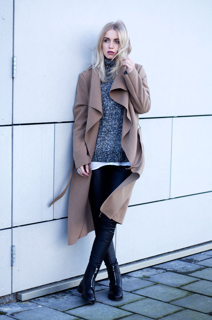 Fashion Attacks outfit ootd Camel coat Elise Store