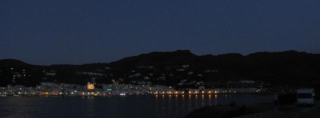 vista del Port de la Selva durant una pernocta amb autocaravana