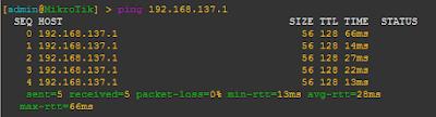 Tes Ping ke Interface Loopback