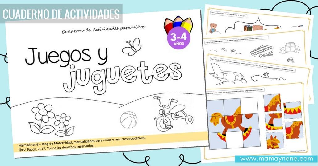 Juegos y juguetes: Cuaderno de Actividades para niños