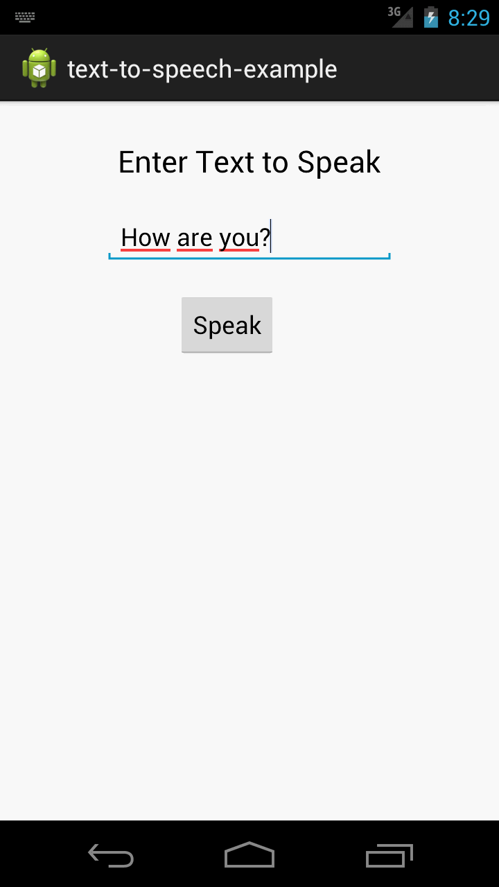 Android Practices: Text to Speech Example in Android