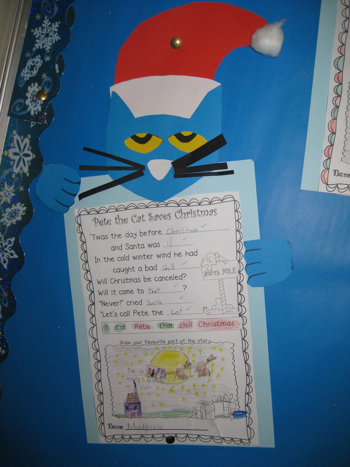 Classroom Fun Pete The Cat Saves Christmas