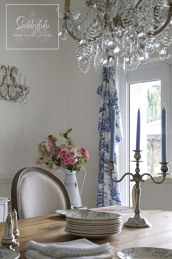 A Touch Of Toile In The Dining Room Shabbyfufu Com