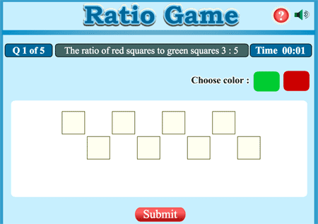 Ratio coloring game