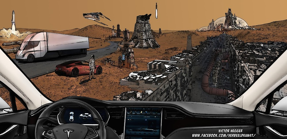 Possible future on Mars inspired by Elon Musk