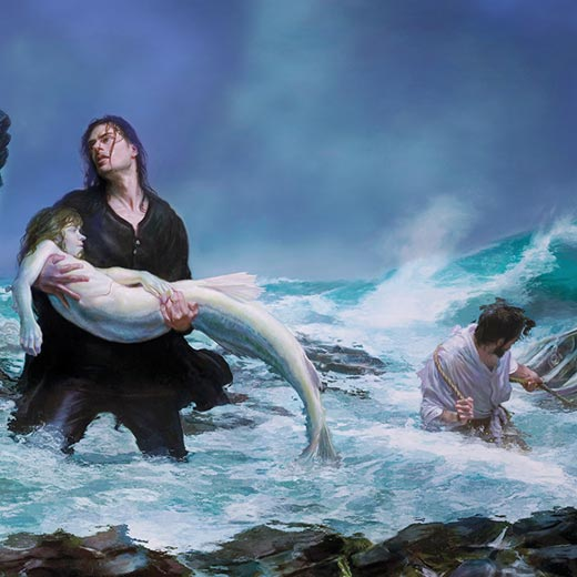 Fantasy Drowning Mermaid Wallpaper Engine