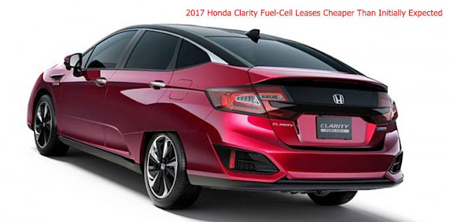 2017 Honda Clarity Fuel-Cell Leases Cheaper Than Initially Expected