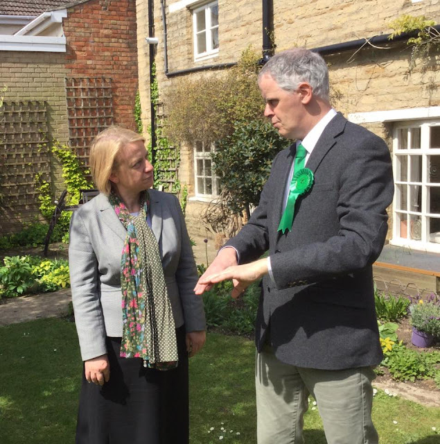 Natalie Bennett and Roger Proudfoot