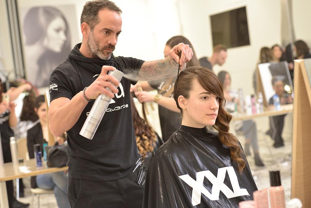 Finalizando el peinado