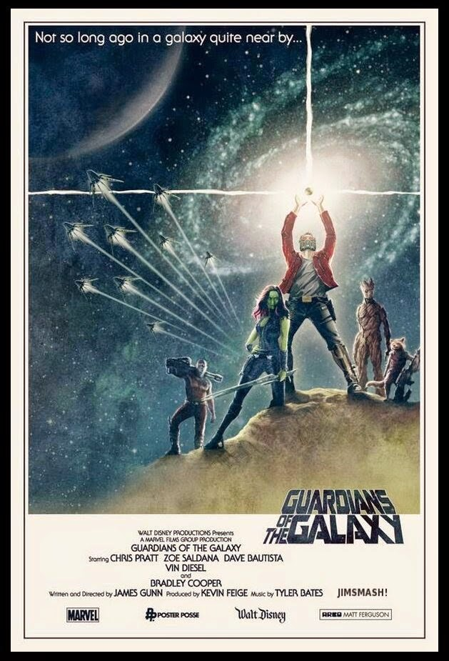 guardians of the galaxy star wars themed poster