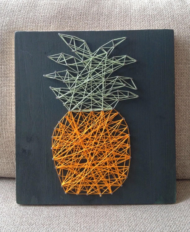 c line happytime blog beaut lifestyle et diy tours diy le tableau ananas en fil tendu. Black Bedroom Furniture Sets. Home Design Ideas