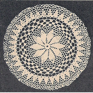 Crochet Doily Pattern with Pinwheel Petal Center