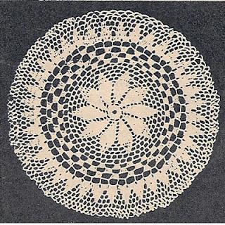 Crochet Doily Pattern with Pinwheel Petal Center