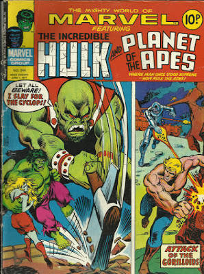 Mighty World of Marvel #244, Hulk and Planet of the Apes
