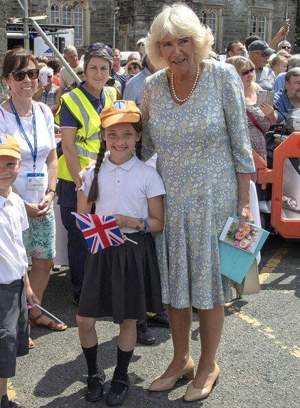 The Duke and Duchess visited Tavistock and attended the town's Community Festival