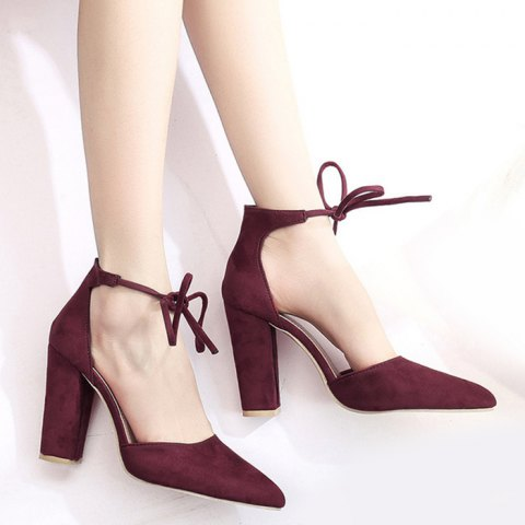 lace up Burgundy