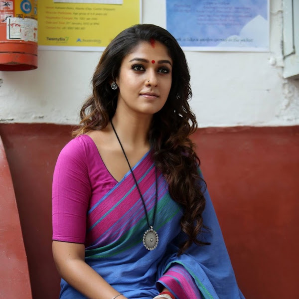 Nayanthara latest photos in saree from Puthiya Niyamam
