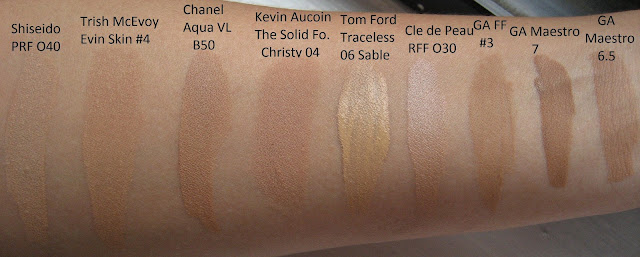 Makeup And Beauty Apprentice Foundation Swatches