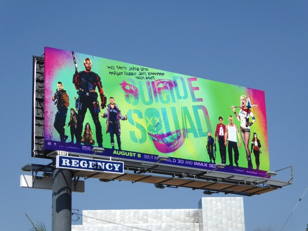 Suicide Squad movie billboard