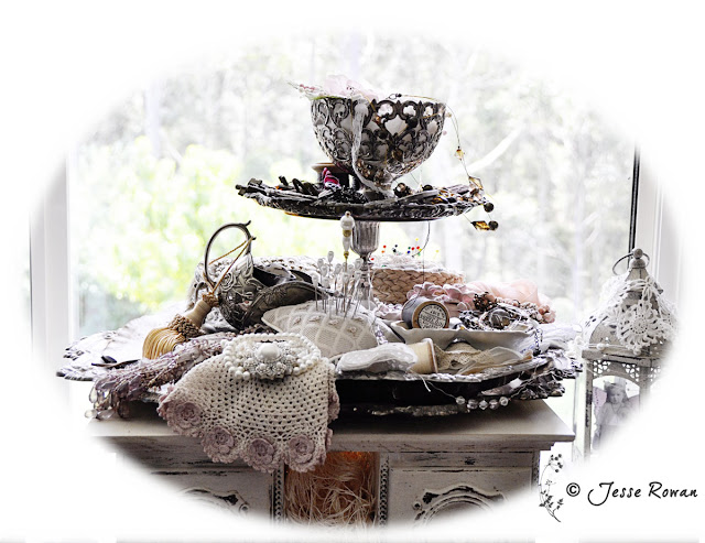 Tutorial on tiered silverware on http://lace-age-girl.blogspot.com.au/2016/04/simply-neutrals-21.html