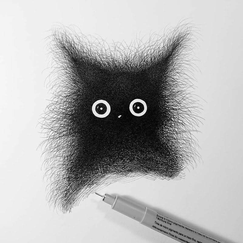 09-Luis-Coelho-Ink-Animal-Drawings-Cats-and-More-www-designstack-co