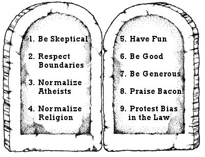 Church of Bacon 9 Commandments
