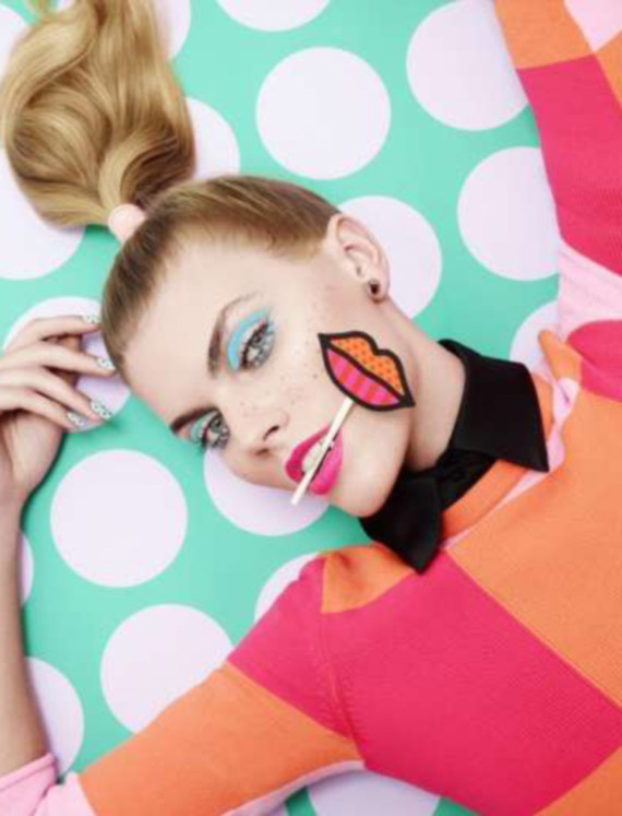 pop art style editorial photography