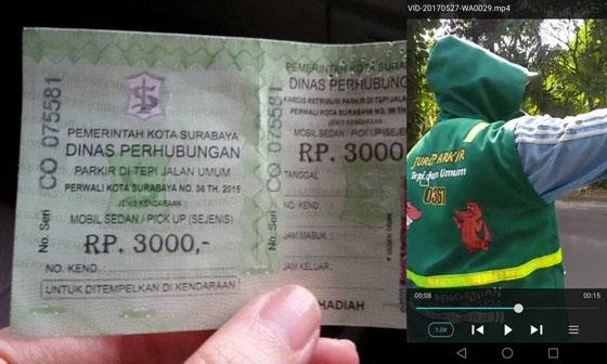 Video Juru Parkir di Surabaya Minta Tarif Tidak Sesuai Karcis Jadi Viral