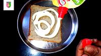 image of meyonnaise on bread piece