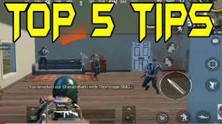 TOP 5 PUBG MOBILE TIPS 2018|TOP 5 BEST TIPS AND TRICK BECOME LIKE PRO