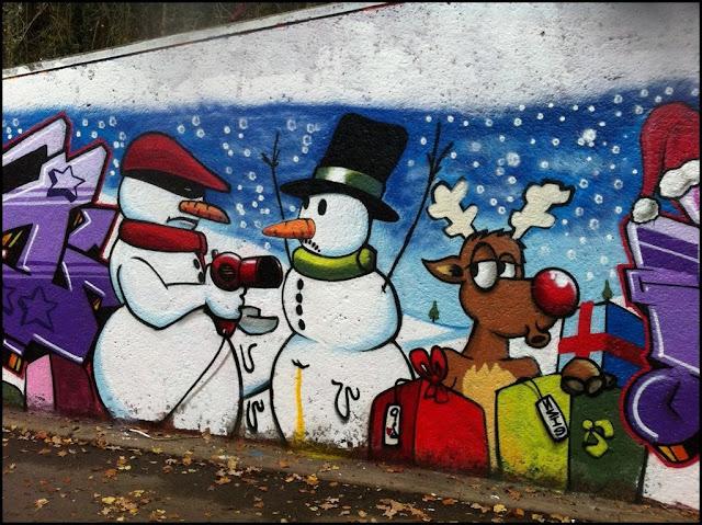 Graffiti Frohe Weihnachten