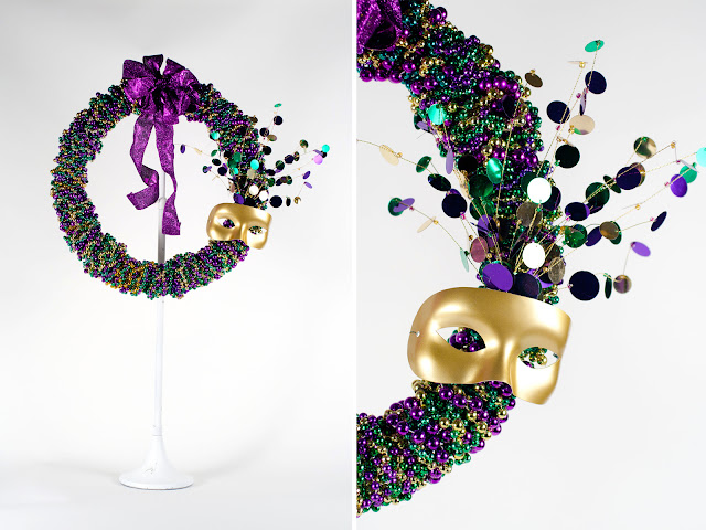 Mardi Gras Wreath by Stitch Craft Create
