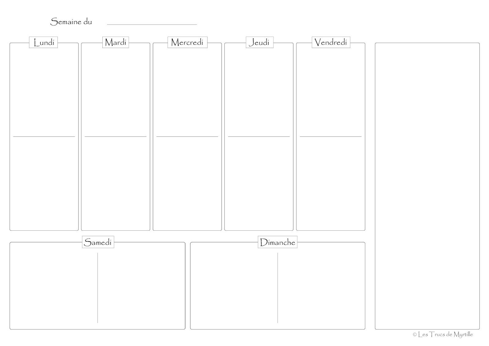la cuisine de myrtille planifier ses menus plannings vierges t l charger. Black Bedroom Furniture Sets. Home Design Ideas
