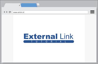 Cara membuat link external secara otomatis terbuka di tab baru