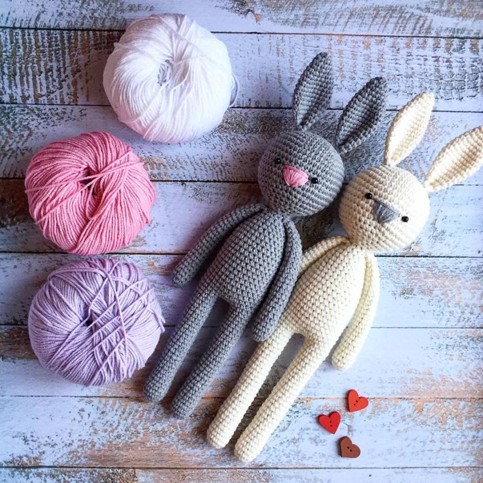 PATTERN: BUNNY RABBIT crochet amigurumi pattern #1902 | Crochet ... | 960x960